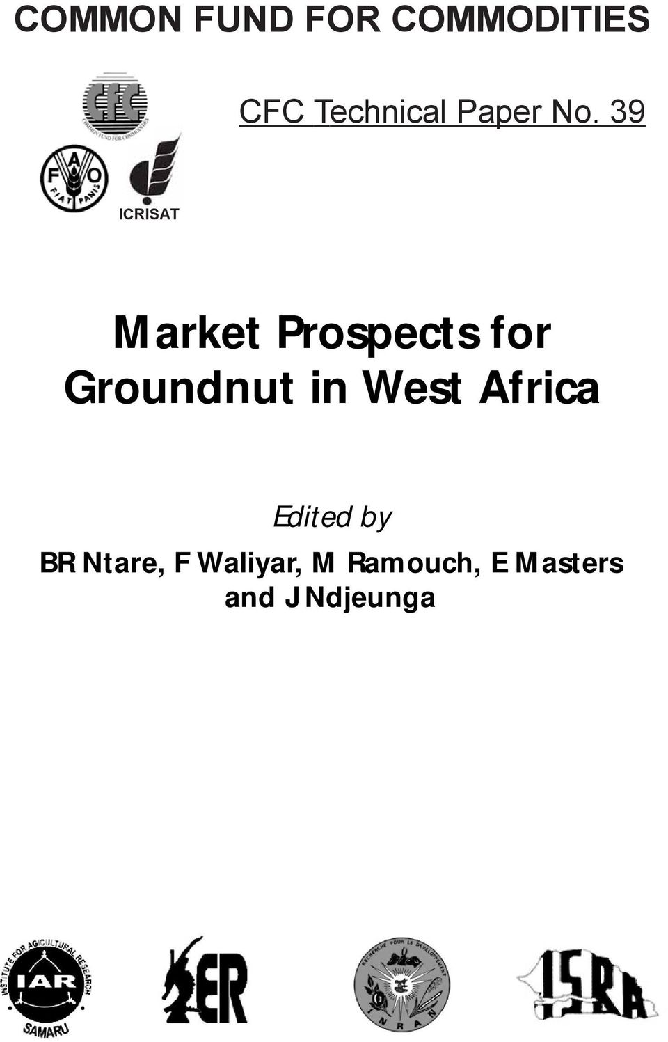 39 ICRISAT Market Prospects for Groundnut