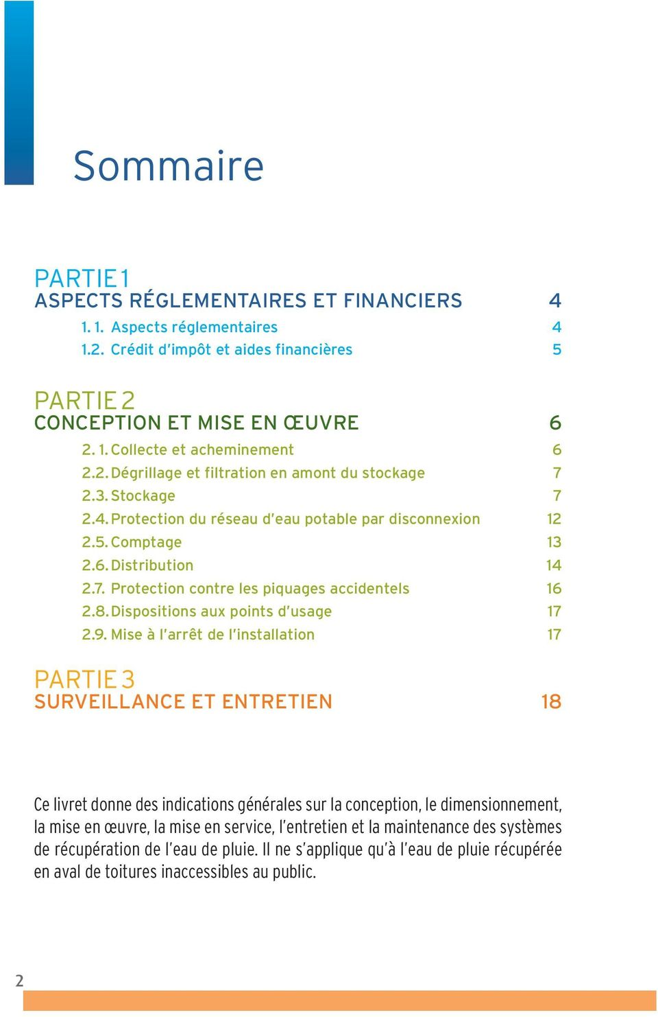 8.Dispositions aux points d usage 17 2.9.