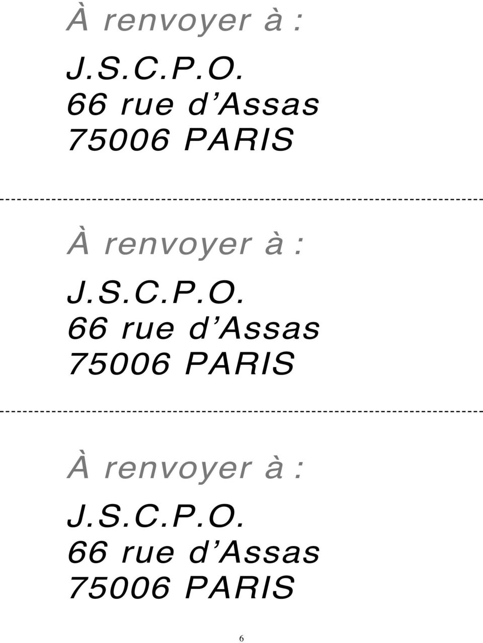 d'assas 75006 PARIS  66 rue d'assas
