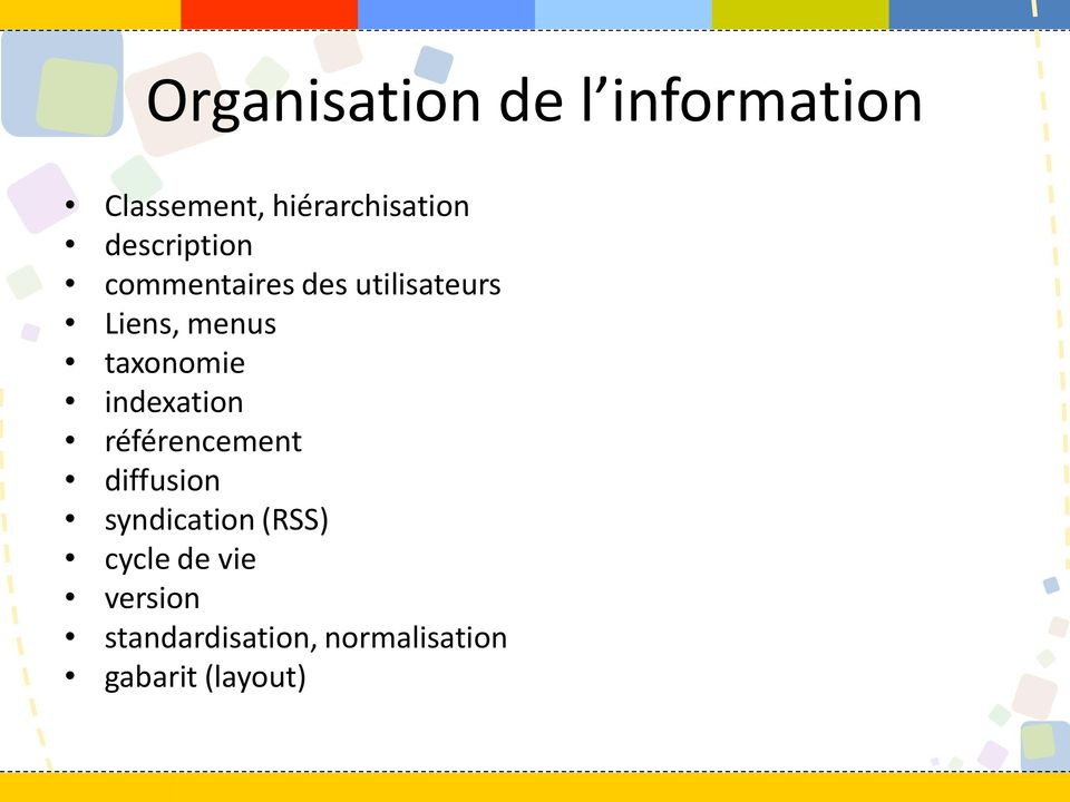 taxonomie indexation référencement diffusion syndication