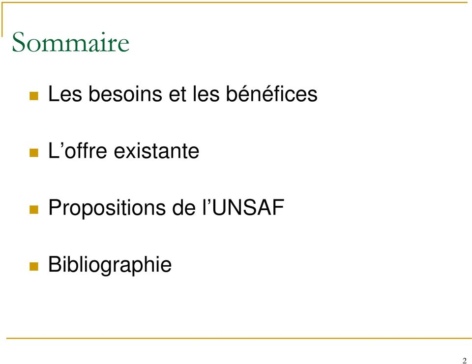 existante Propositions