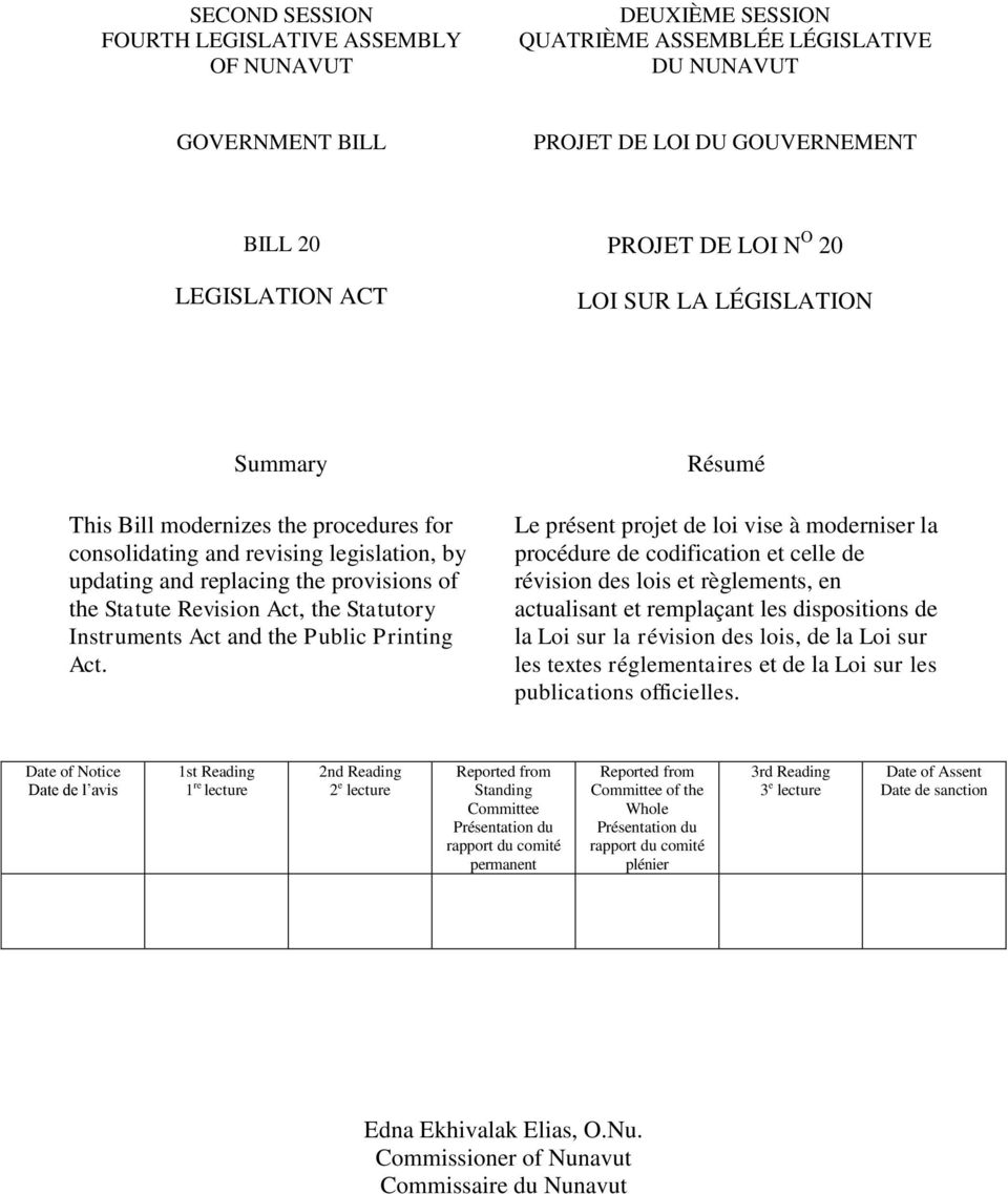 Instruments Act and the Public Printing Act.