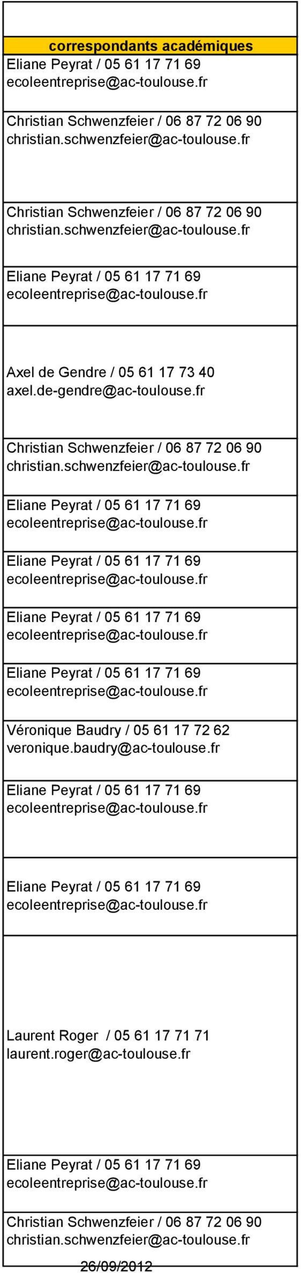 fr Véronique Baudry / 05 61 17 72 62 veronique.