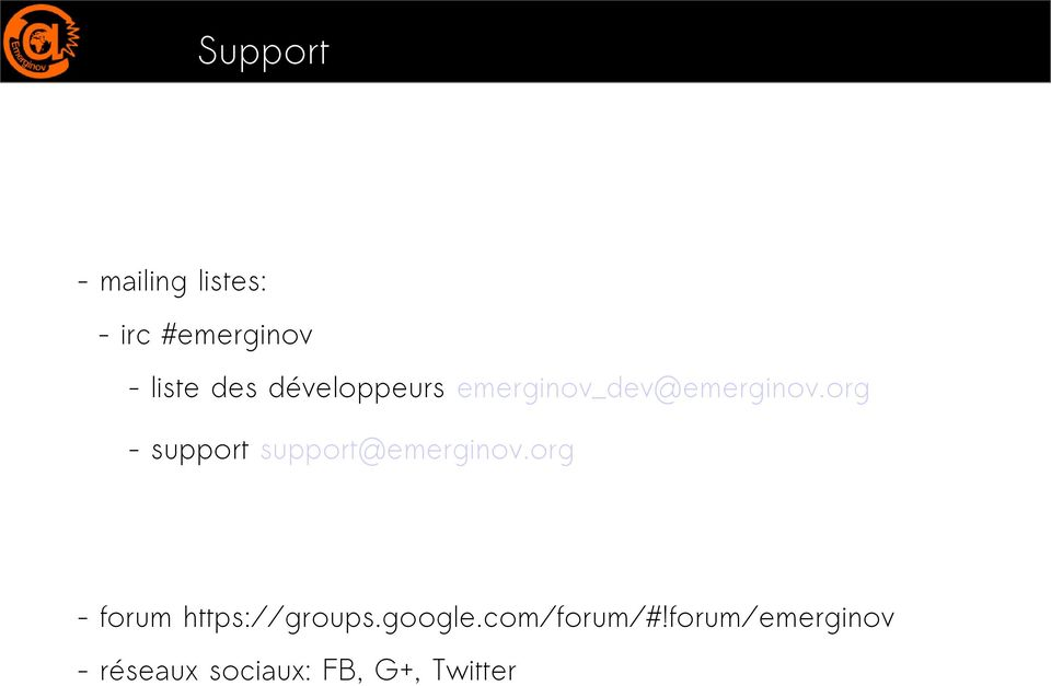 org - support support@emerginov.