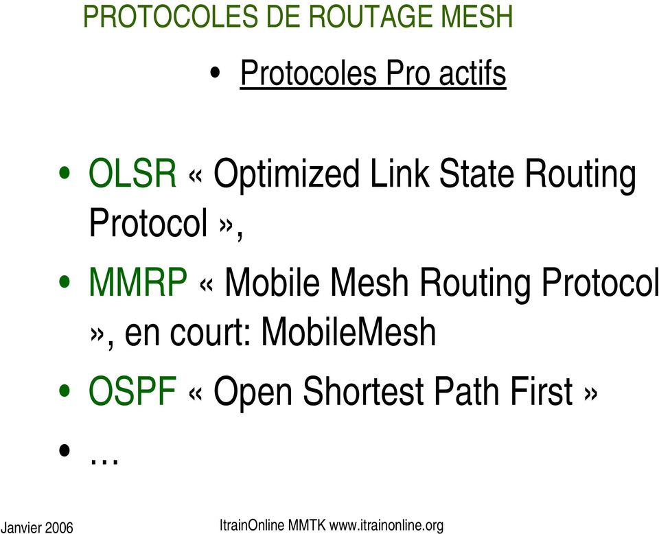 Protocol», MMRP «Mobile Mesh Routing