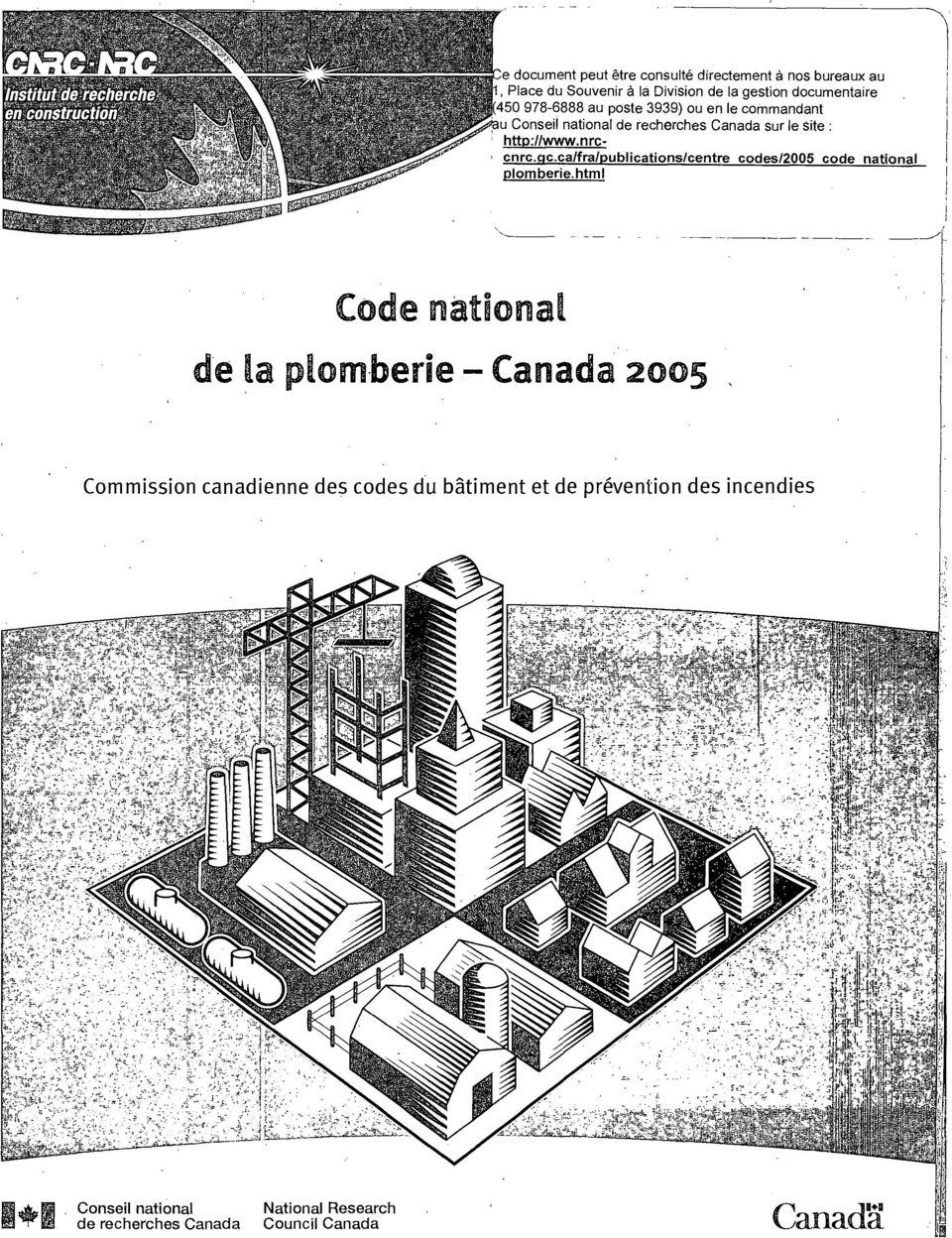 nrc-, cnrc.qc.ca/fra/publications/centre codes/2005 code national plomberie.