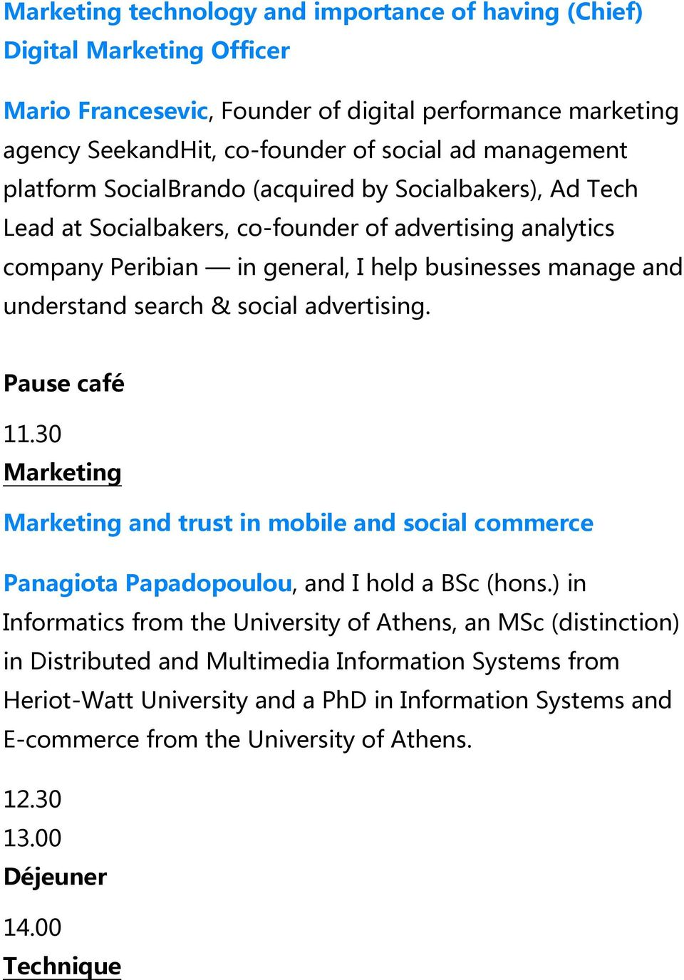 & social advertising. 11.30 and trust in mobile and social commerce Panagiota Papadopoulou, and I hold a BSc (hons.