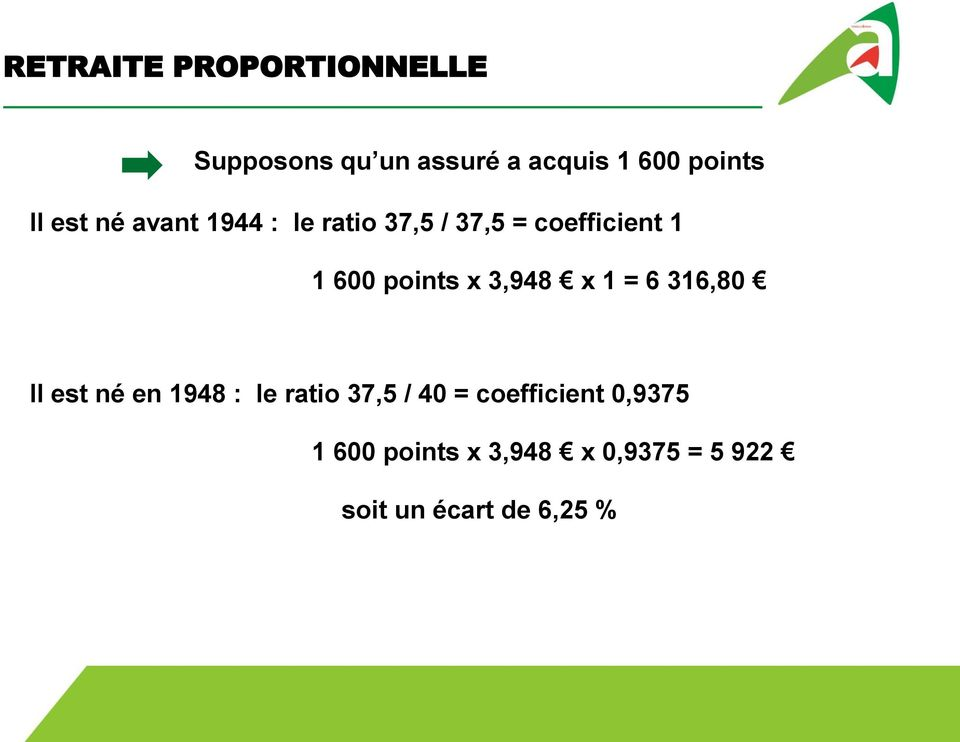 points x 3,948 x 1 = 6 316,80 Il est né en 1948 : le ratio 37,5 / 40 =