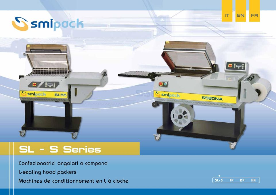 L-sealing hood packers Machines de