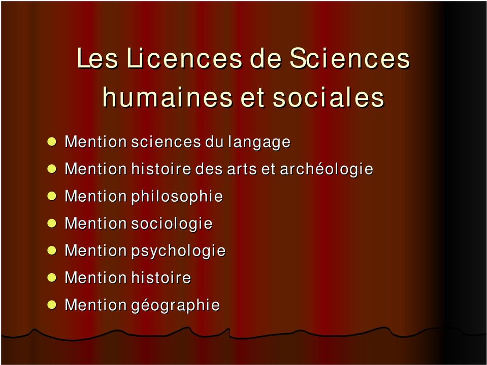 arts et archéologie Mention philosophie Mention