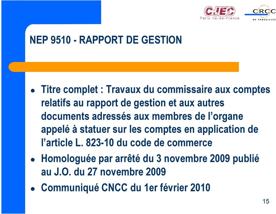 sur les comptes en application de l article L.