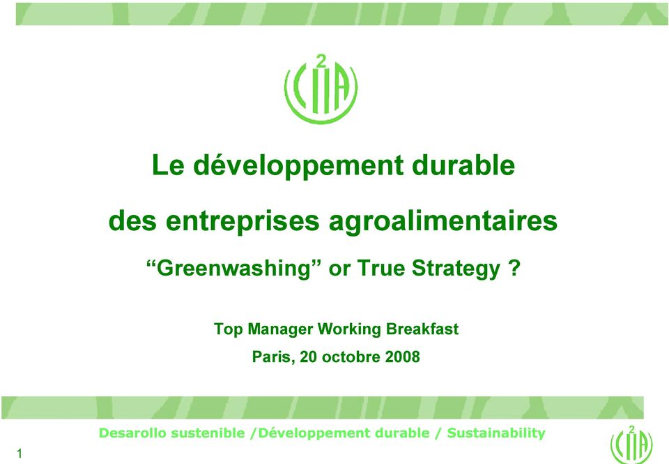 Greenwashing or True Strategy?