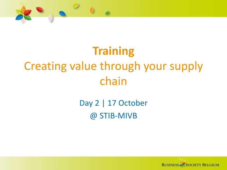 supply chain Day 2