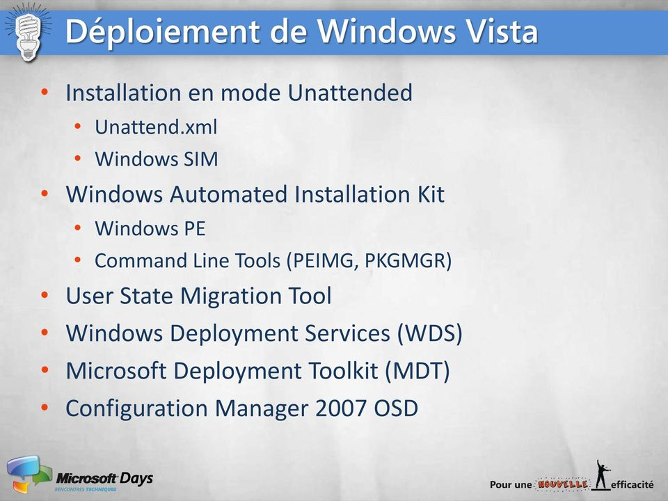 Line Tools (PEIMG, PKGMGR) User State Migration Tool Windows Deployment