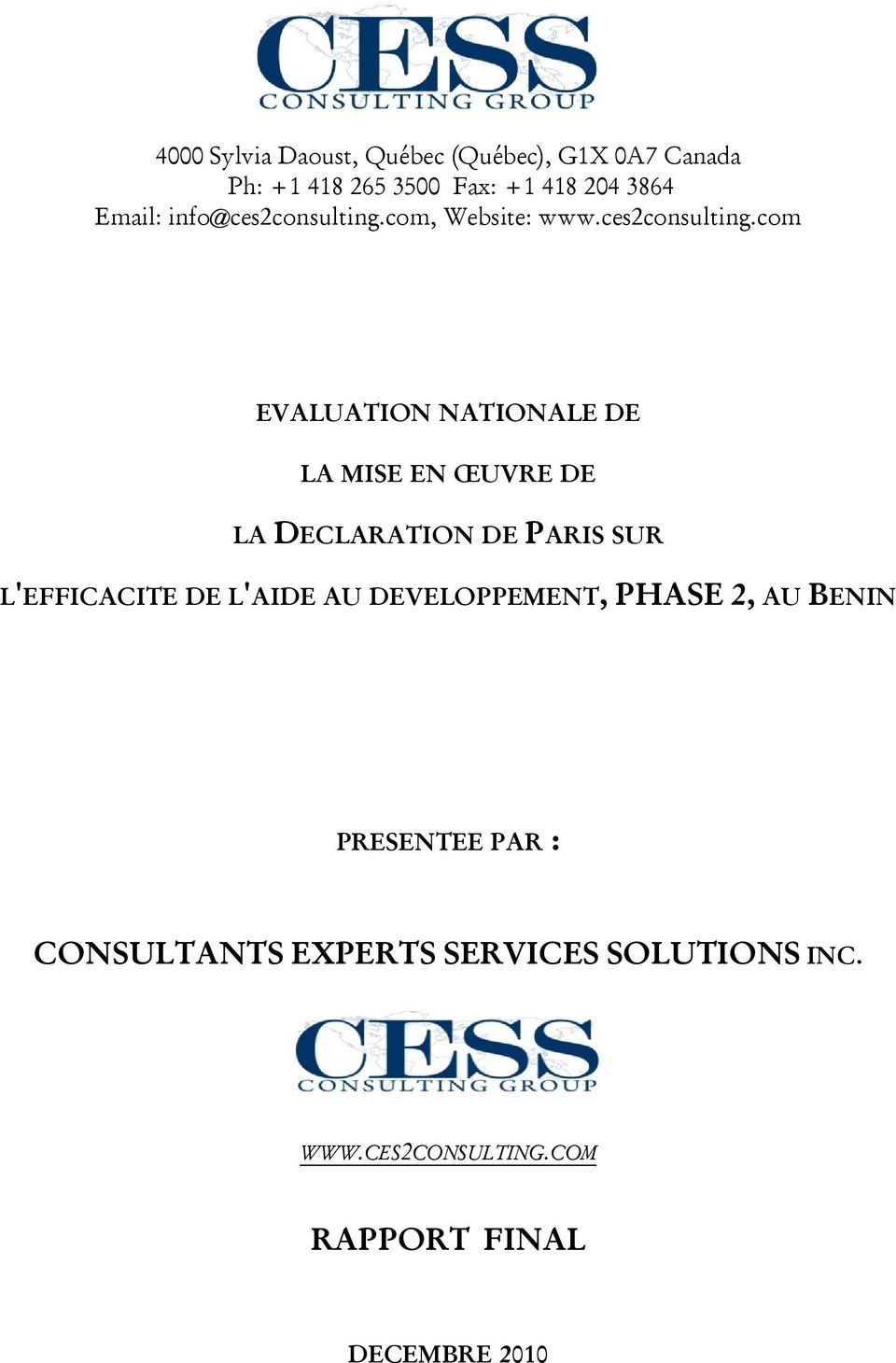 com, Website: www.ces2consulting.