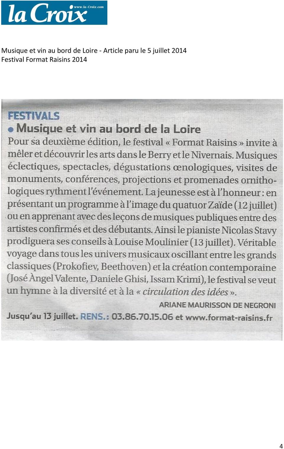Loire - Article