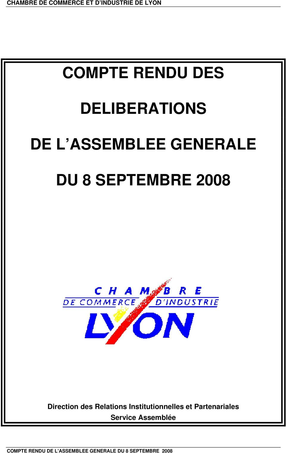 Direction des Relations Institutionnelles et Partenariales