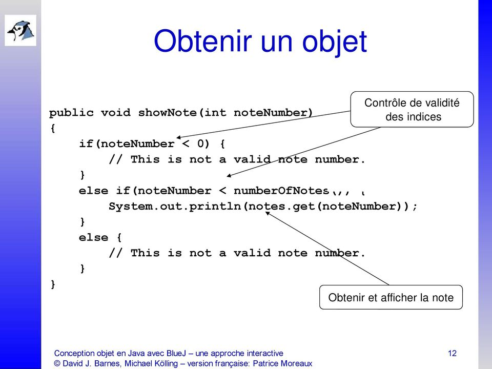 This is not a valid note number. else if(notenumber < numberofnotes()) { System.out.