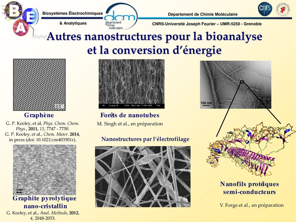 2014, in press (doi: 10.1021/cm403501r). Forêts de nanotubes M. ingh et al.