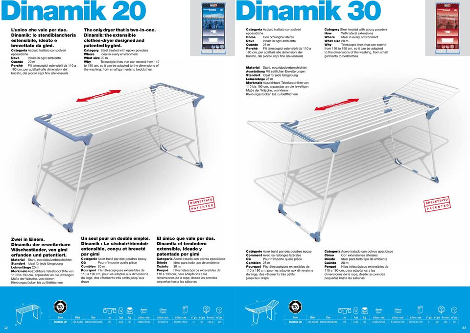 dryer tht is two-in-one. Dinmik: the extensile lothes-dryer designed nd ptented y gimi.
