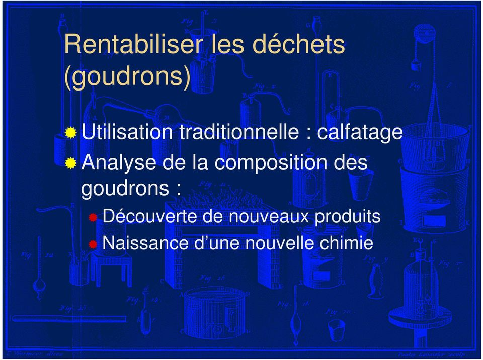 Analyse de la composition des goudrons :