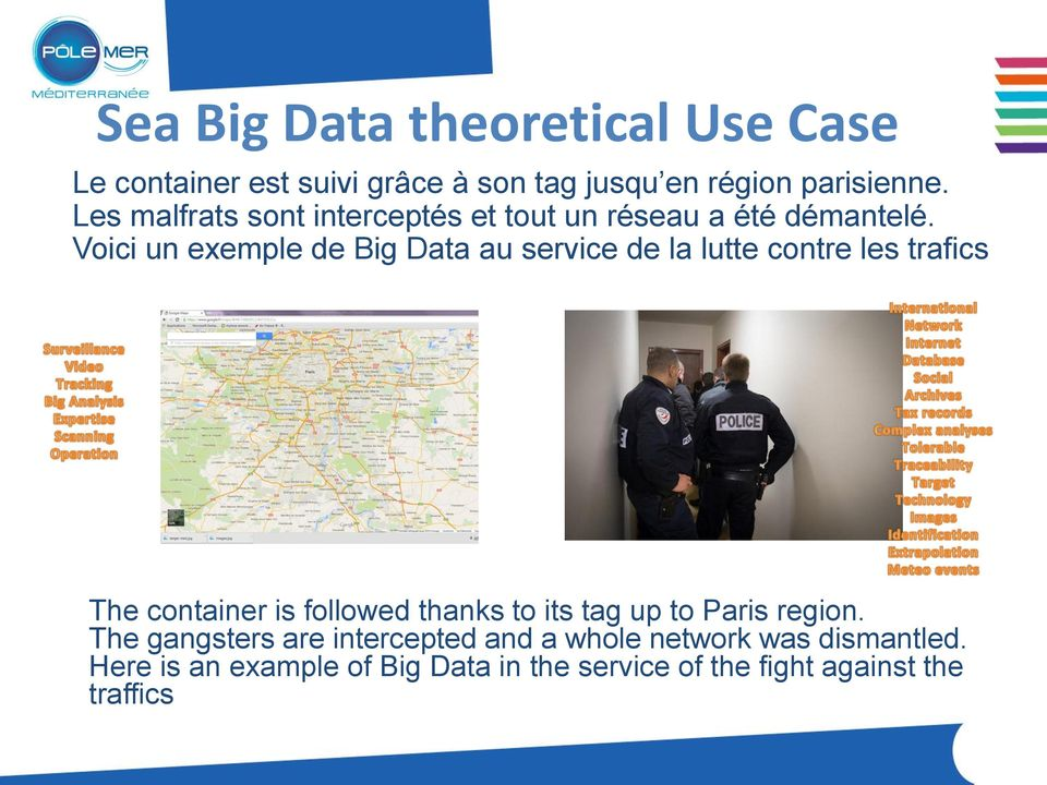 Voici un exemple de Big Data au service de la lutte contre les trafics The container is followed