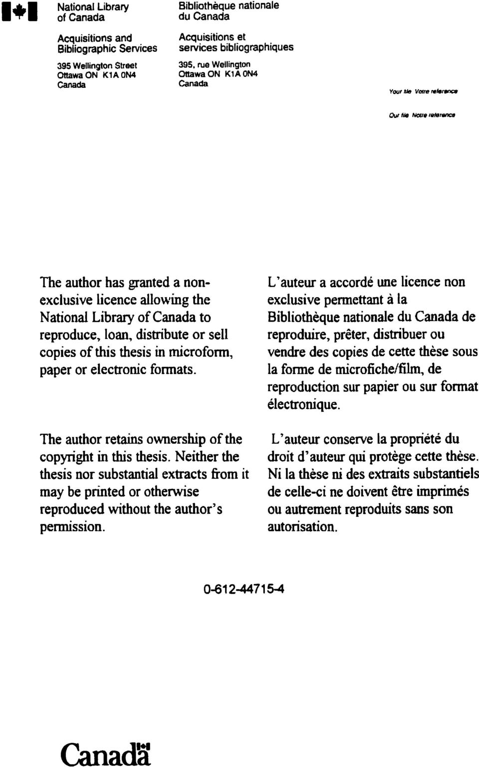 paper or electronic formats. The author retains ownership of the copyright in this thesis.