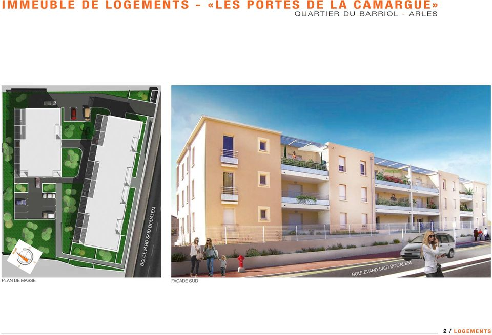BARRIOL - ARLES PLAN DE MASSE BOULEVARD SAID