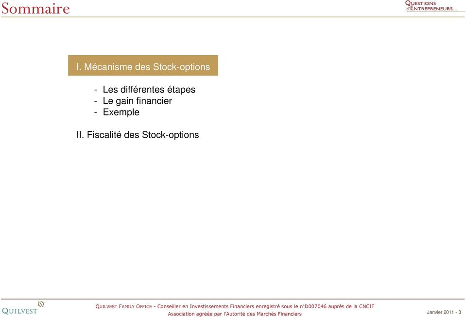 financier - Exemple II.