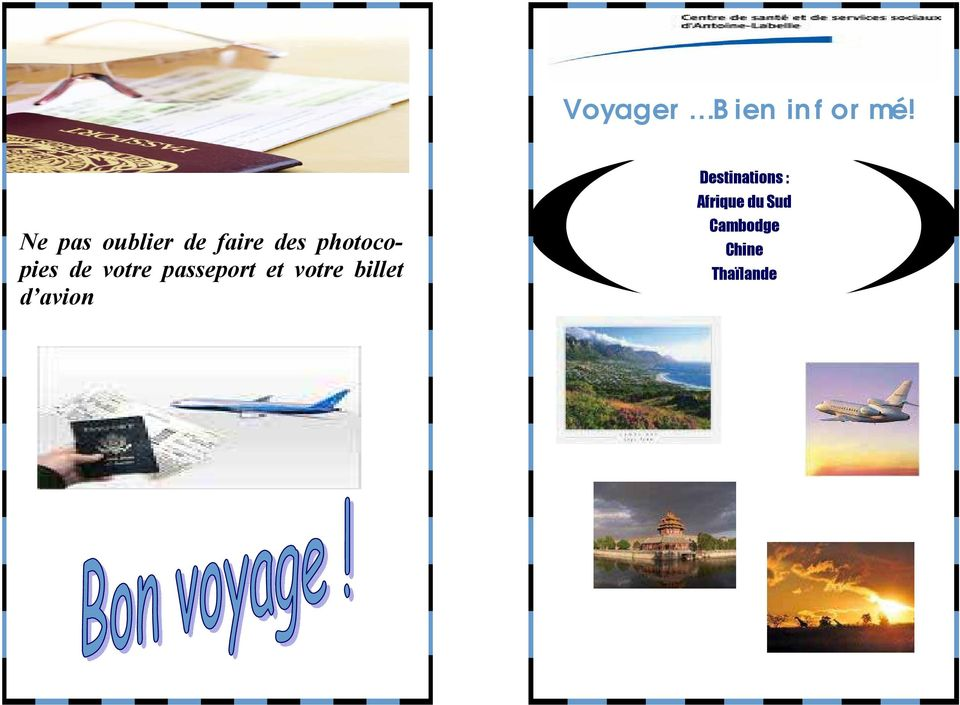 votre billet d avion Destinations