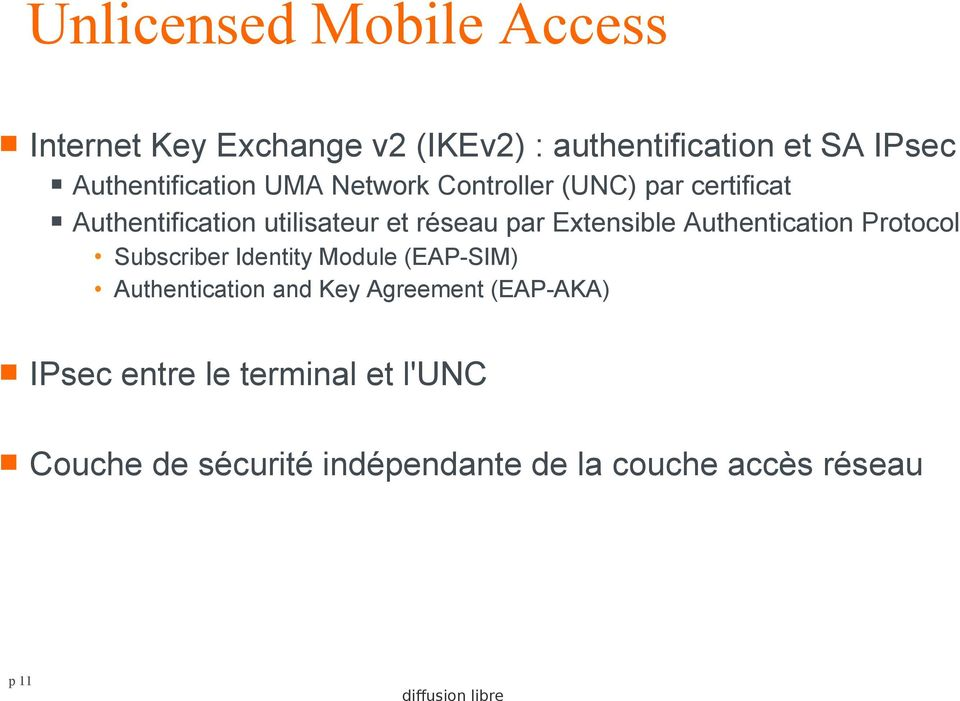 par Extensible Authentication Protocol Subscriber Identity Module (EAP-SIM) Authentication and Key