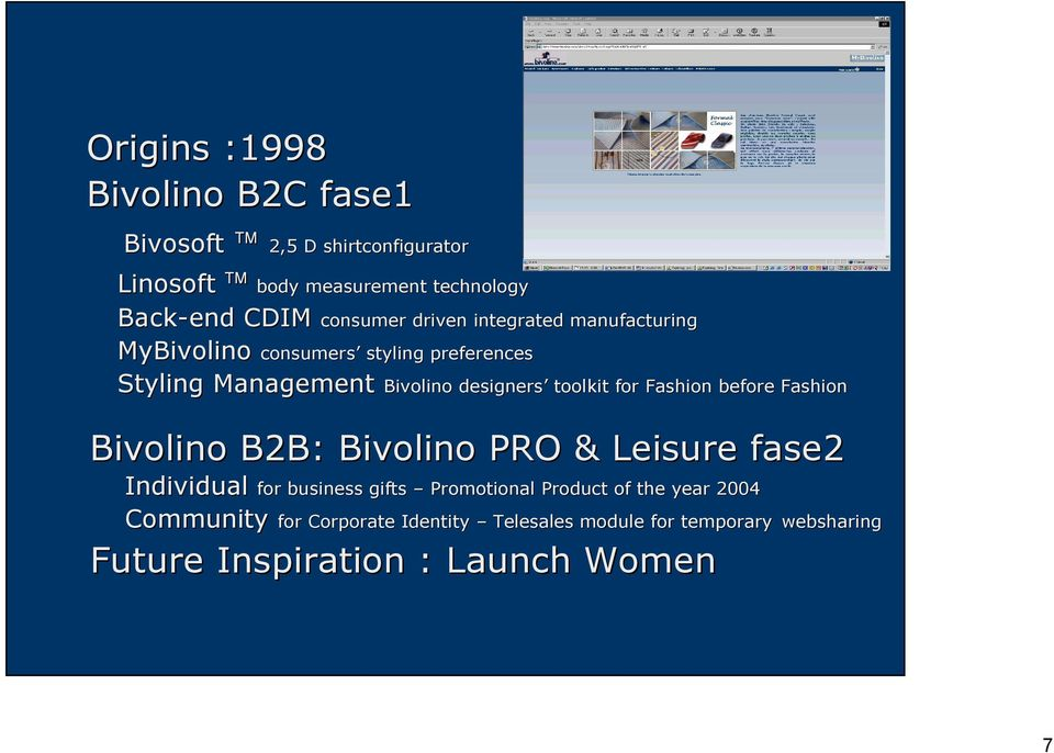 designers toolkit for Fashion before Fashion Bivolino B2B: Bivolino PRO & Leisure fase2 Individual for business gifts Promotional