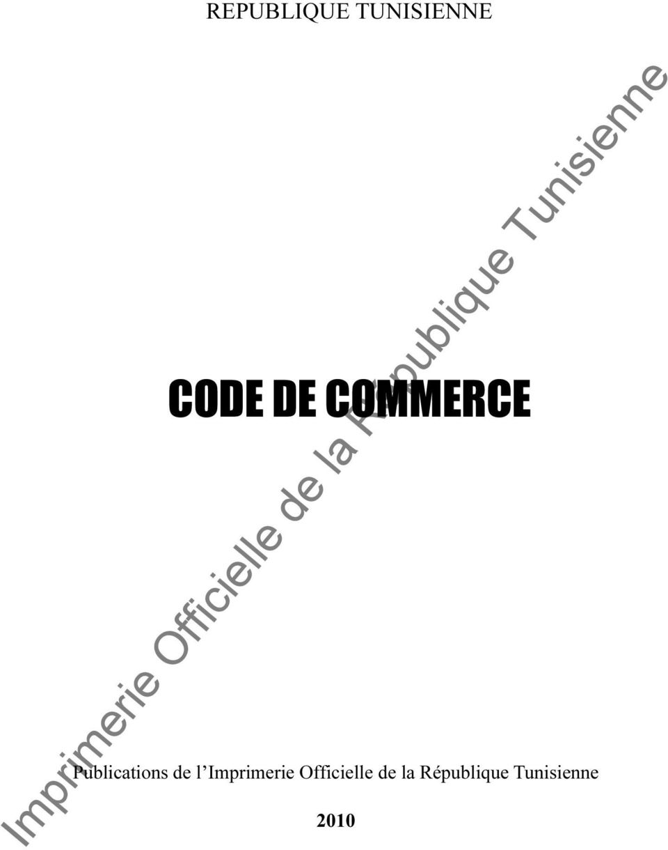 DE COMMERCE