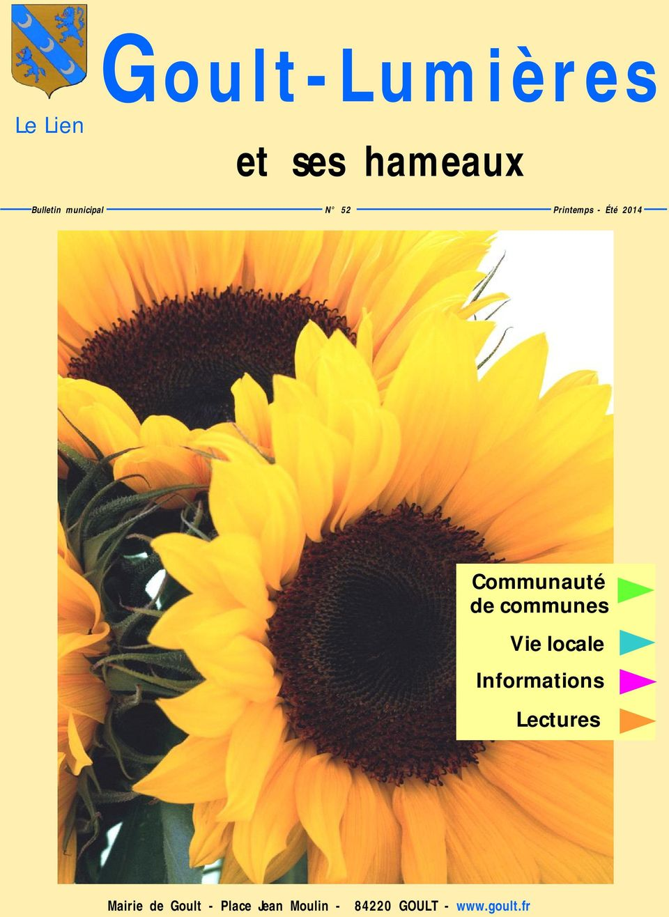 communes Vie locale Informations Lectures Mairie