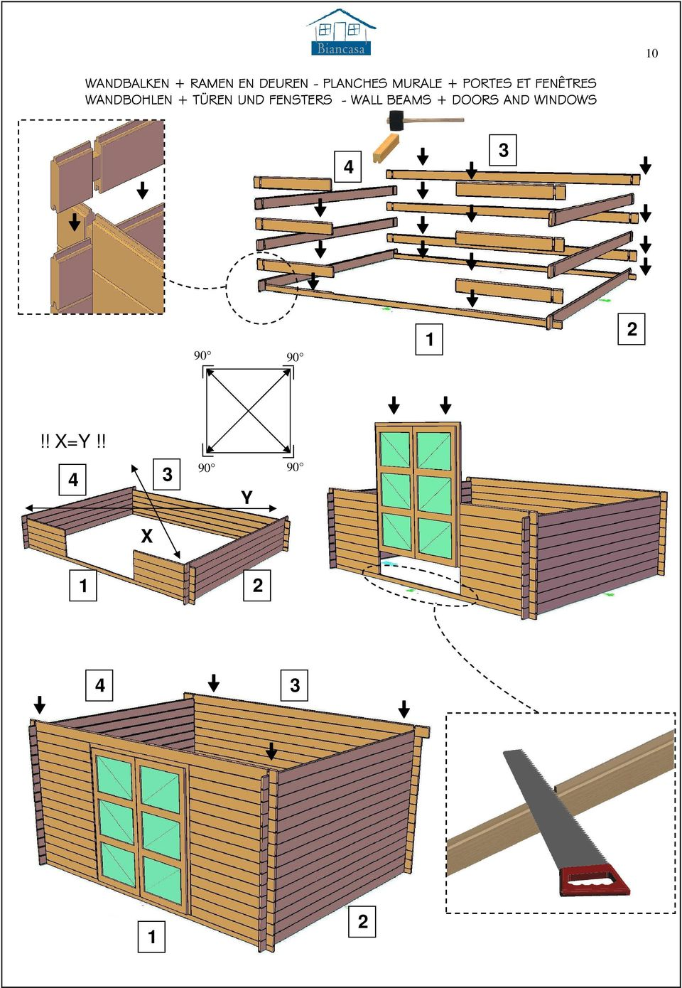 TÜREN UND FENSTERS - WALL BEAMS + DOORS AND