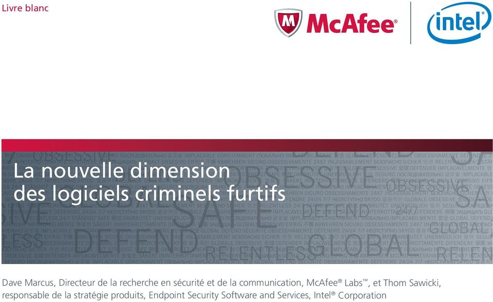 communication, McAfee Labs, et Thom Sawicki, responsable de la