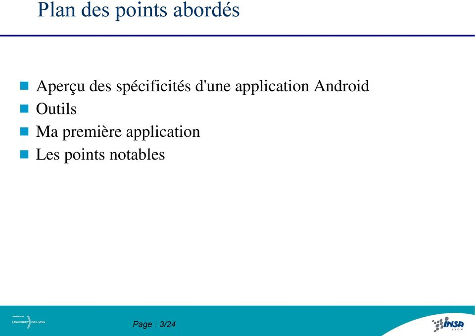 application Android Outils Ma