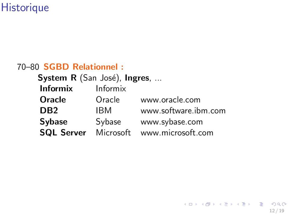 oracle.com DB2 IBM www.software.ibm.