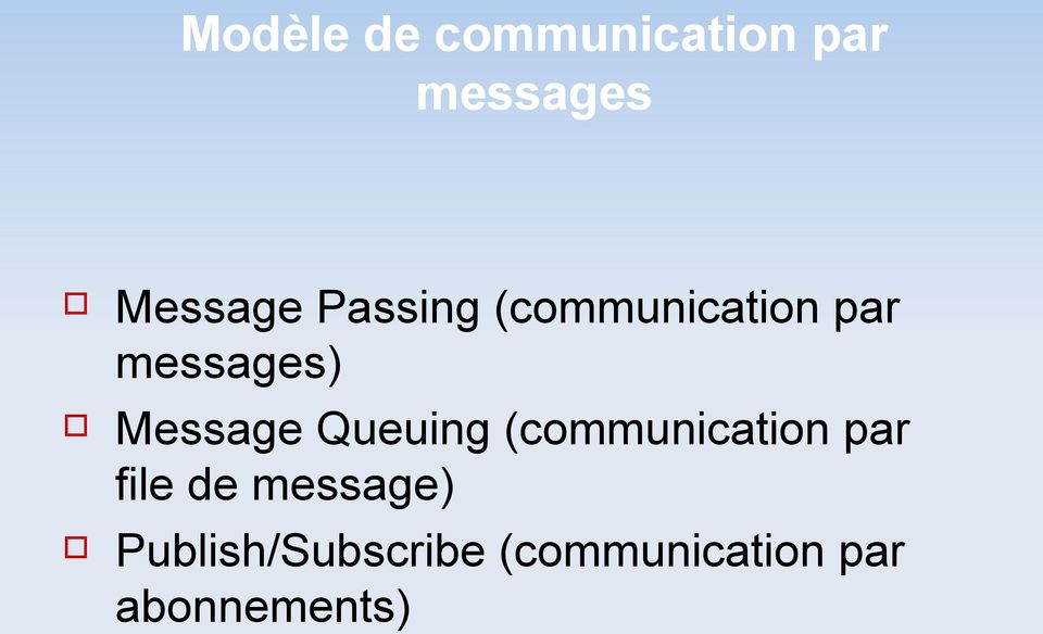 Queuing (communication par file de message)