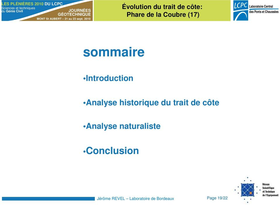 Analyse naturaliste Conclusion