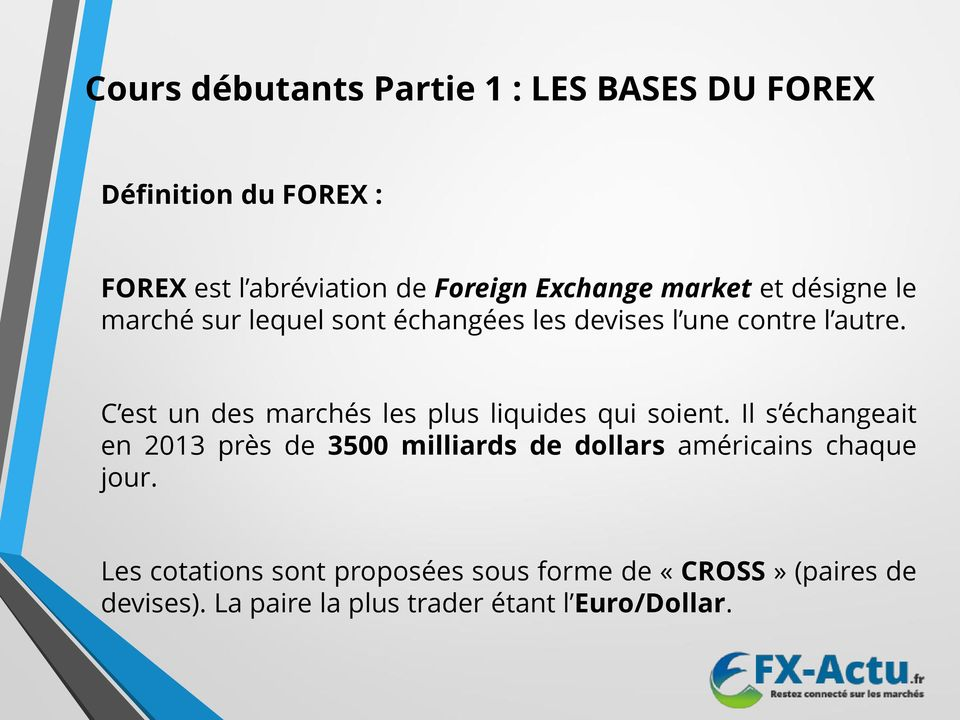 Cours du forex le week end