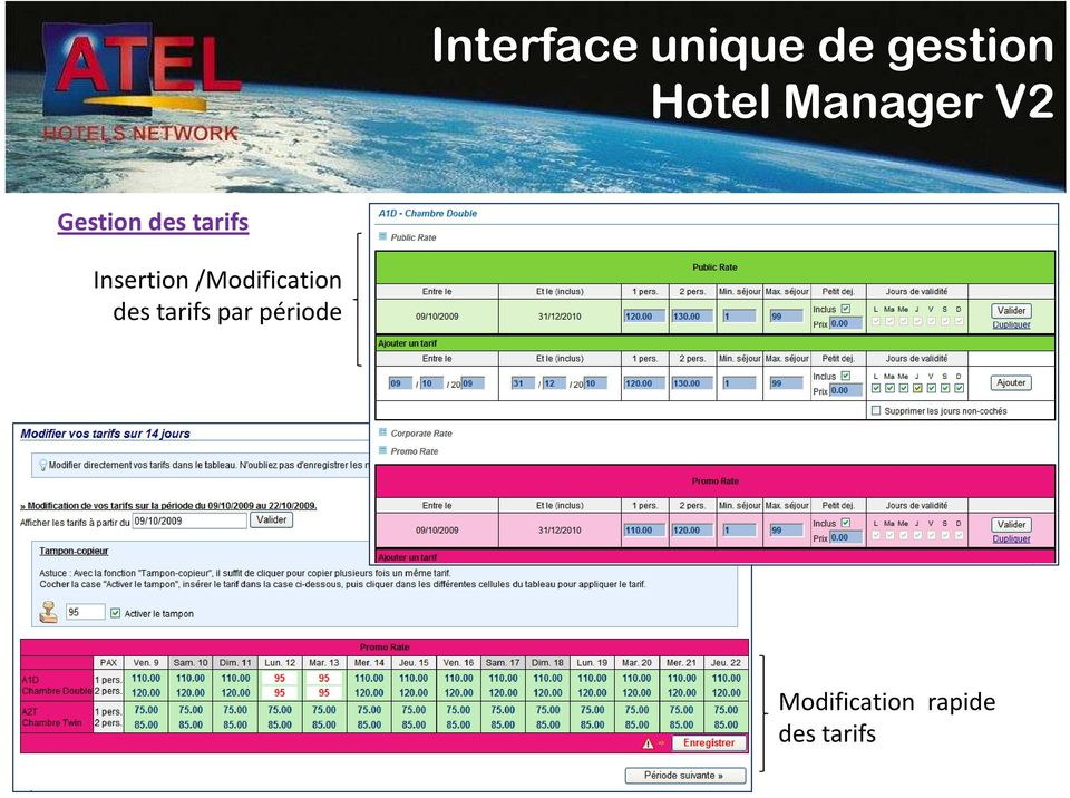 Insertion /Modification des tarifs
