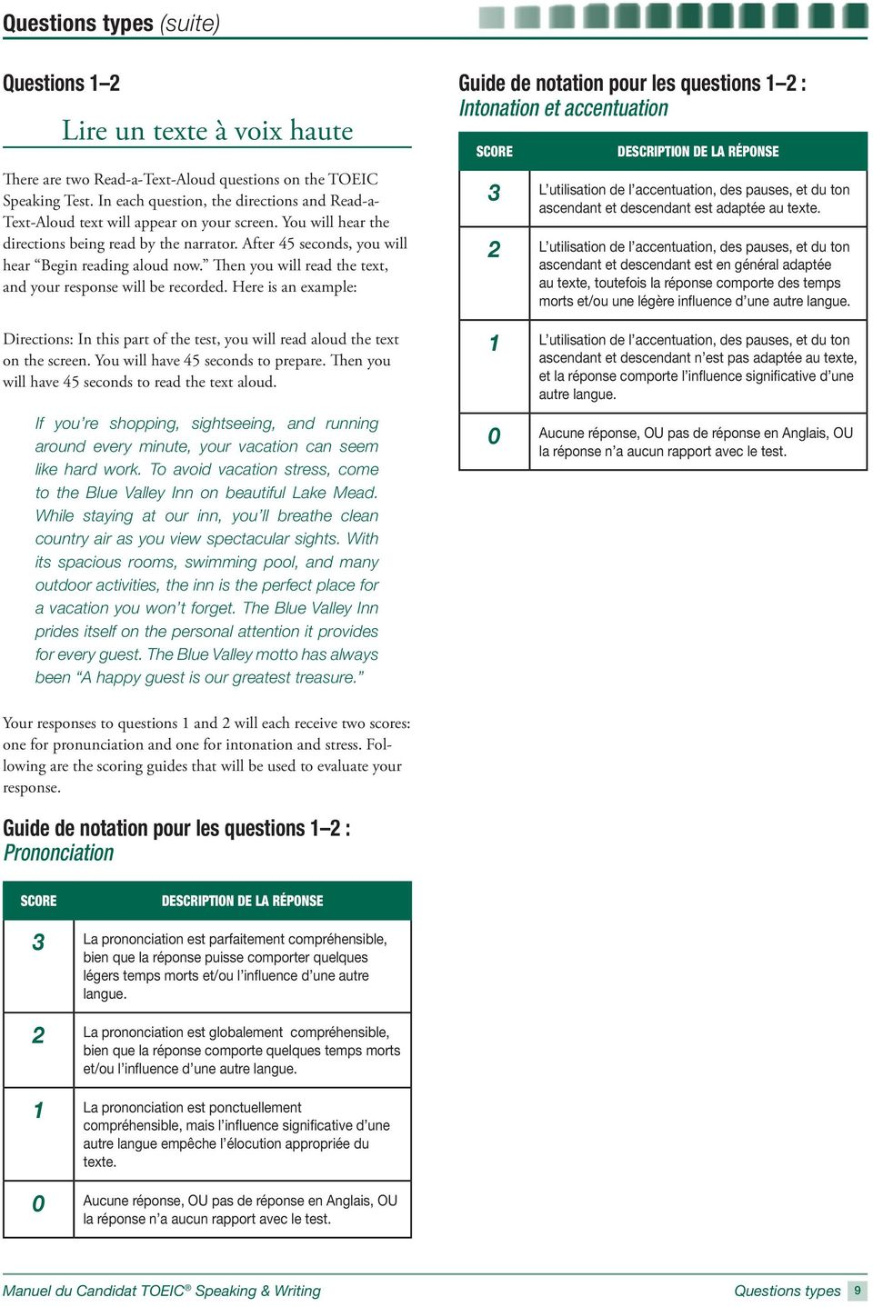 toeic writing and speaking test example