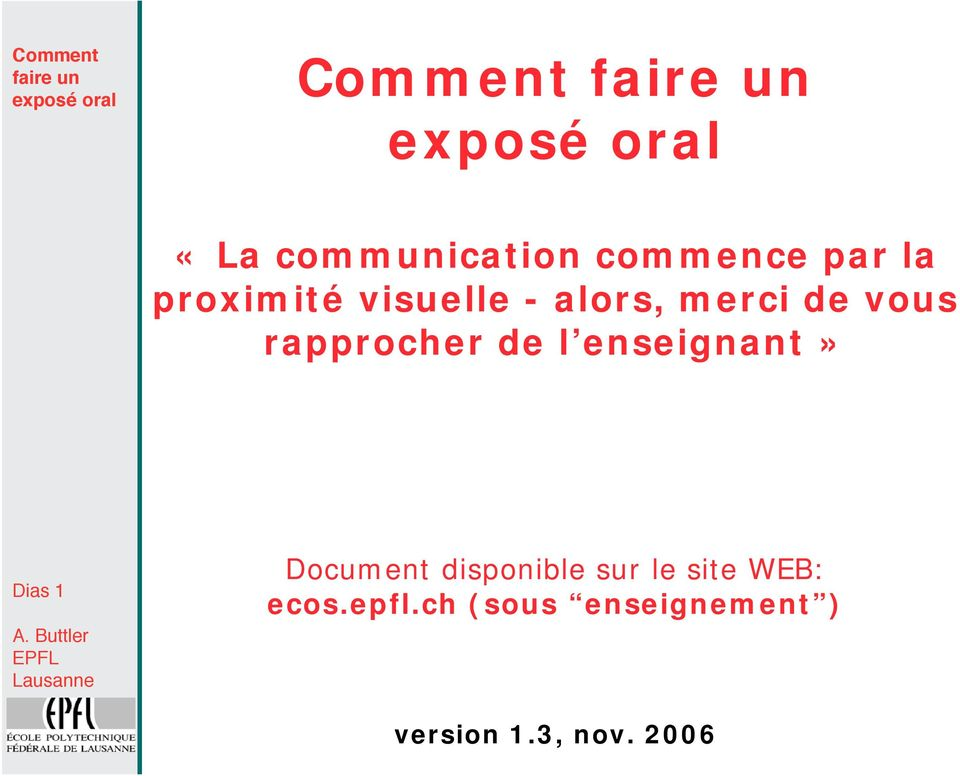 enseignant» Dias 1 Document disponible sur le site