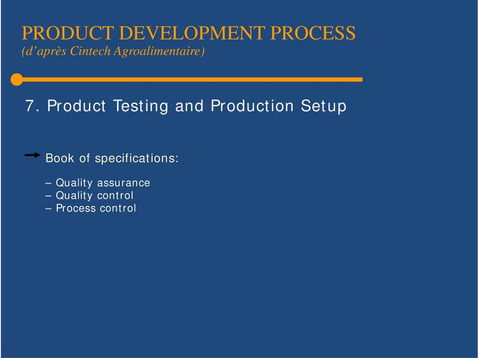 Product Testing and Production Setup Book