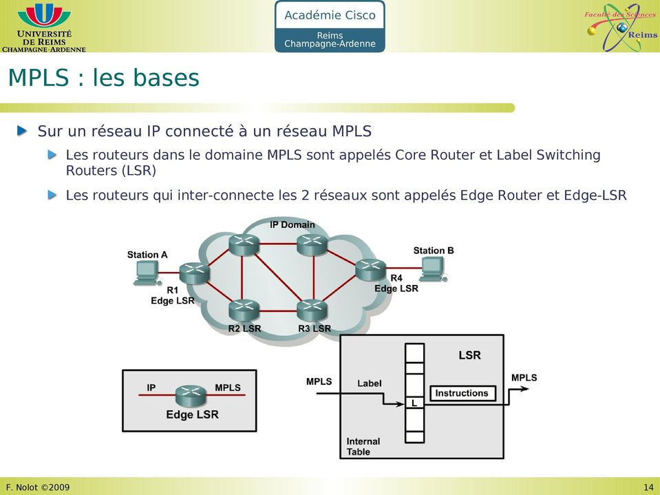 et Label Switching Routers (LSR) Les routeurs qui
