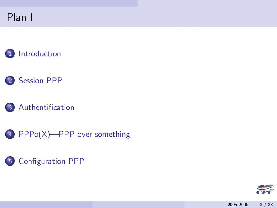 Authentification 4 PPPo(X)