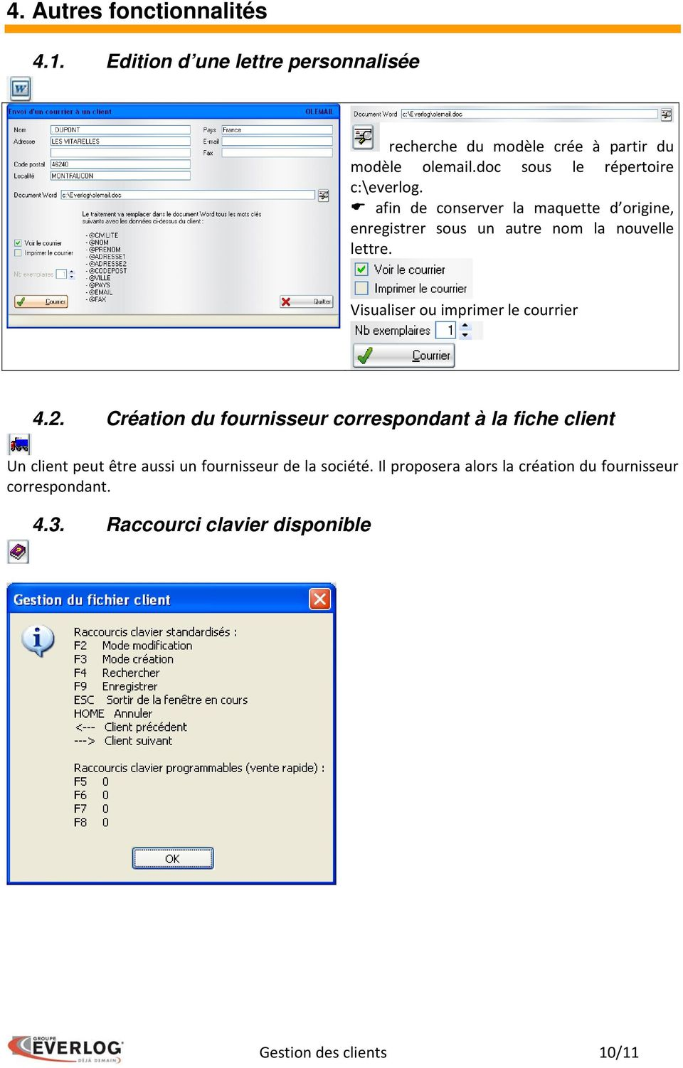 Visualiser ou imprimer le courrier 4.2.