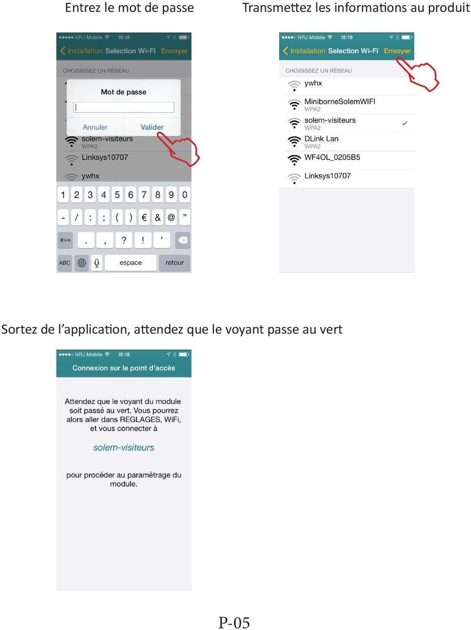 produit Sortez de l application,