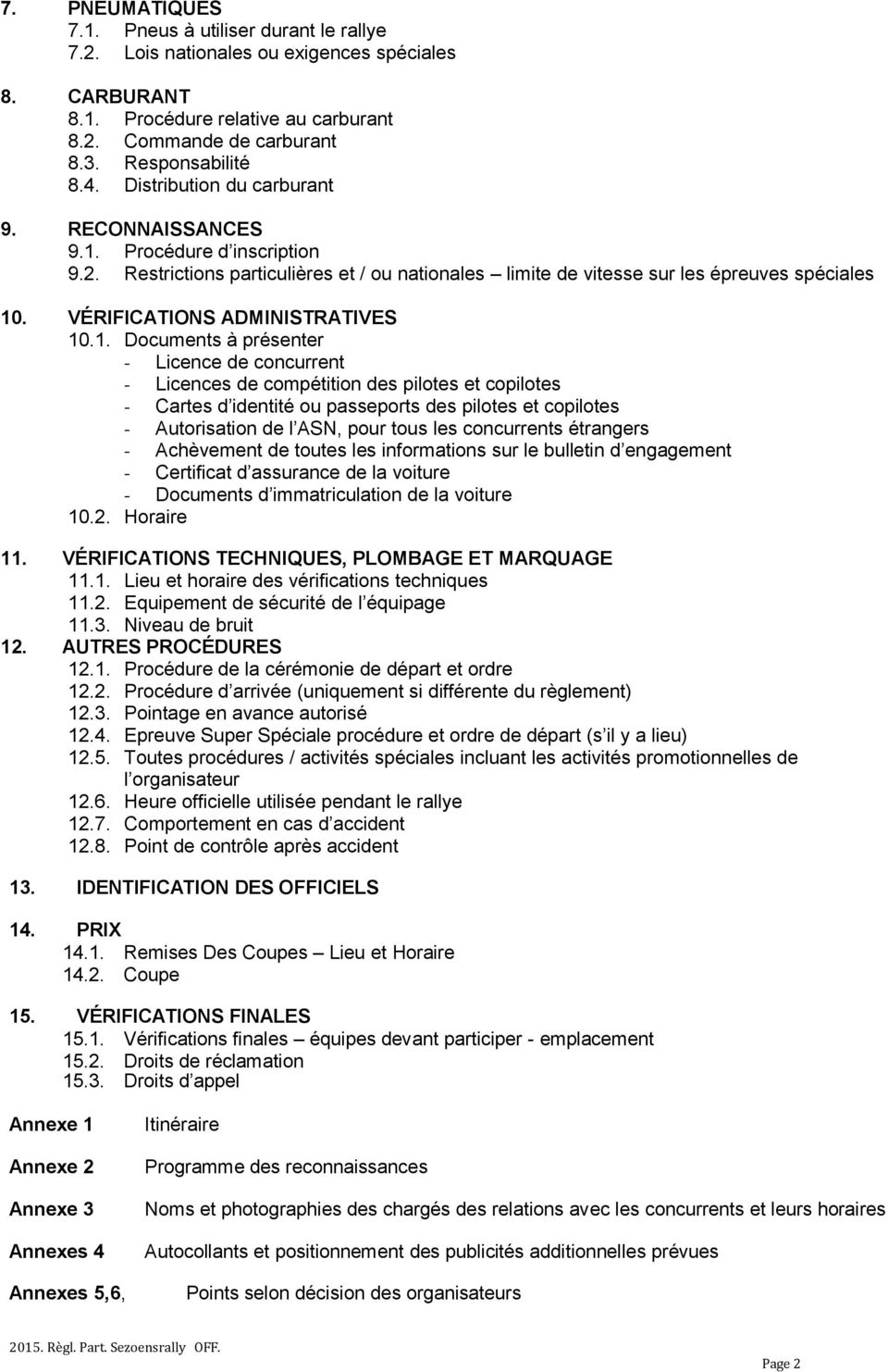 VÉRIFICATIONS ADMINISTRATIVES 10